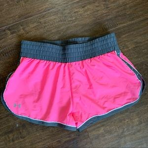 Pink Under Armour Workout Shorts